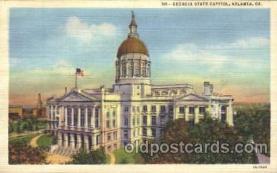 cap001064 - Atlanta, GA, Georia, USA State Capitol, Capitols Postcard Post Card