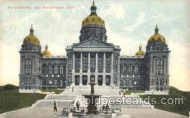cap001071 - Des Moines, Iowa, Ia, USA State Capitol, Capitols Postcard Post Card