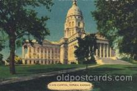 cap001076 - Topeka, Kansan, Ks, USA State Capitol, Capitols Postcard Post Card