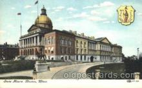 cap001090 - Boston, Massachusetts, MA, USA State Capitol, Capitols Postcard Post Card