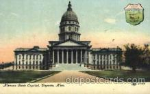 cap001097 - Kansas, Ks, USA State Capitol, Capitols Postcard Post Card