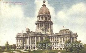 cap001132 - Springfield, ILL.,  Illinois, USA State Capitol, Capitols Postcard Post Card