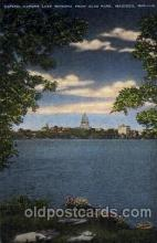 cap001140 - Capital across lake Monana, madison, Wis, Wisconsin, USA United States State Capital Building Postcard Post Card