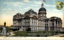 cap001160 - Indianapolis, Indiana, USA United States State Capital Building Postcard Post Card