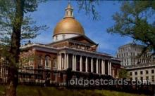 cap001180 - Boston, Mass, Massachusetts, USA United States State Capital Building Postcard Post Card
