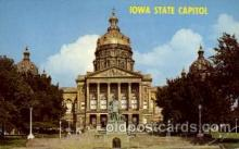 cap001192 - Iowa state capital, USA United States State Capital Building Postcard Post Card