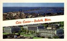 cap001206 - Civic center, Duluth, Minn, Minnesota, USA United States State Capital Building Postcard Post Card