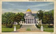 cap001214 - Montpelier, Vt, Vermont, USA United States State Capital Building Postcard Post Card