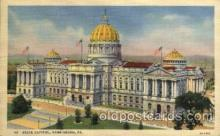 cap001228 - Harrisburg, PA, Pennsylvania, USA United States State Capital Building Postcard Post Card