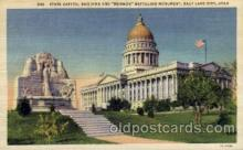 cap001249 - Salt Lake, Utha, USA United States State Capital Building Postcard Post Card