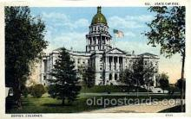 cap001300 - Denver, Colorado, USA United States State Capital Building Postcard Post Card