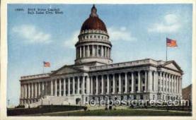 cap001302 - Salt lake City, Utah, USA United States State Capital Building Postcard Post Card