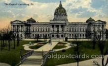 cap001313 - Harrisburg, PA, Pennsylvania, USA United States State Capital Building Postcard Post Card