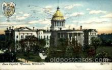 cap001338 - Madison, Wisconsin, USA United States State Capital Building Postcard Post Card