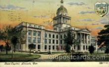 cap001359 - Lincoln, Neb, Nebraska, USA United States State Capital Building Postcard Post Card