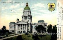 cap001362 - Springfield, ill, Illinois, USA  United States State Capital Building Postcard Post Card