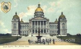 cap001399 - Des Moines, Iowa, IA State Capital, Capitals Postcard Post Card USA