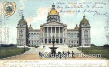 cap001418 - Des Moines, Iowa, IA State Capital, Capitals Postcard Post Card USA
