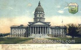 cap001420 - Topeka, Kansas, KS  State Capital, Capitals Postcard Post Card USA