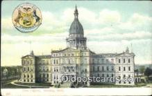cap001428 - Lansing, Michigan, MI  State Capital, Capitals Postcard Post Card USA