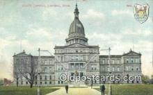 cap001436 - Lansing, Michigan, MI  State Capital, Capitals Postcard Post Card USA