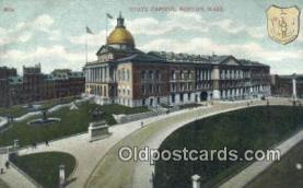 cap001437 - Boston, Massachusetts, MA State Capital, Capitals Postcard Post Card USA