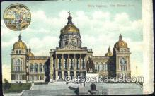 cap001451 - Des Moines, Iowa, IA State Capital, Capitals Postcard Post Card USA