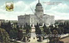 cap001473 - Sacramento, California, CA  State Capital, Capitals Postcard Post Card USA