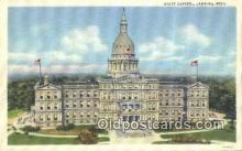 cap001538 - Lansing, Michigan, MI  State Capital, Capitals Postcard Post Card USA