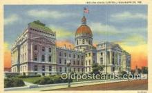 cap001585 - Indianapolis, Indiana, IN State Capital, Capitals Postcard Post Card USA