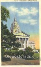 cap001586 - Topeka, Kansas, KS  State Capital, Capitals Postcard Post Card USA