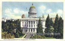 cap001598 - Sacramento, California, CA  State Capital, Capitals Postcard Post Card USA