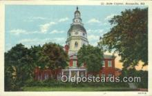 cap001613 - Annapolis, Maryland, MD State Capital, Capitals Postcard Post Card USA