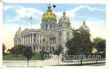 cap001629 - Des Moines, Iowa, IA State Capital, Capitals Postcard Post Card USA