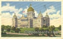cap001634 - Des Moines, Iowa, IA State Capital, Capitals Postcard Post Card USA