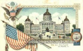 cap001680 - Des Moines, Iowa, IA State Capital, Capitals Postcard Post Card USA