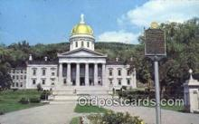 cap001717 - Montpelier, Vermont, VT State Capital, Capitals Postcard Post Card USA