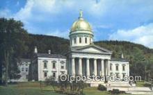 cap001719 - Montpelier, Vermont, VT State Capital, Capitals Postcard Post Card USA