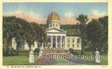 cap001720 - Montpelier, Vermont, VT State Capital, Capitals Postcard Post Card USA