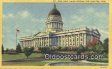 cap001723 - Salt Lake City, Utah, UT  State Capital, Capitals Postcard Post Card USA