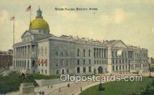cap001731 - Boston, Massachusetts, MA State Capital, Capitals Postcard Post Card USA