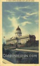 cap001818 - Salt Lake City, Utah, UT  State Capital, Capitals Postcard Post Card USA