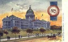 cap001854 - Jackson, Mississippi, MS State Capital, Capitals Postcard Post Card USA
