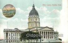 cap001913 - Topeka, Kansas, KS  State Capital, Capitals Postcard Post Card USA