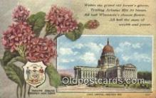 cap001943 - Madison, Wisconsin, WI State Capital, Capitals Postcard Post Card USA