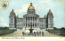 cap002004 - Des Moines, Iowa, IA State Capital, Capitals Postcard Post Card USA