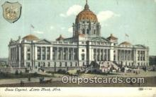 cap002015 - Little Rock, Arkansas, AR State Capital, Capitals Postcard Post Card USA