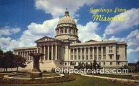 cap002034 - Jefferson City, Missouri , MO State Capital, Capitals Postcard Post Card USA