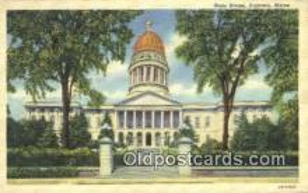 cap002047 - Augusta, Maine, ME State Capital, Capitals Postcard Post Card USA