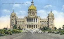 cap002062 - Des Moines, Iowa, IA State Capital, Capitals Postcard Post Card USA